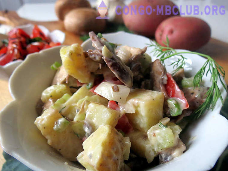 Potato salad with mushrooms | recipes