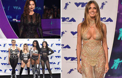 Revealing outfits celebrities at the MTV-Award 2017