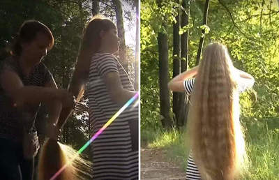 Siberian Rapunzel goes for world record