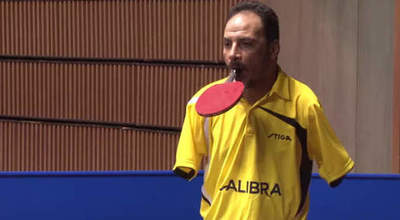 Ibrahim Hamato - the only tennis player in the world of armless