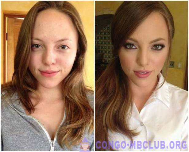 Girls before and after makeup