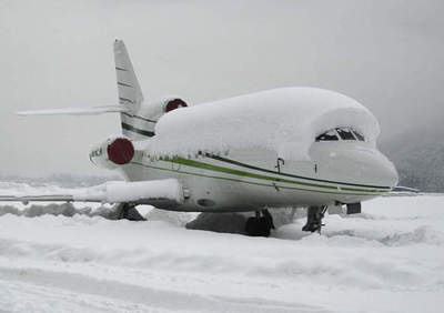 By coating, not subject to icing. It can be used to create aircraft