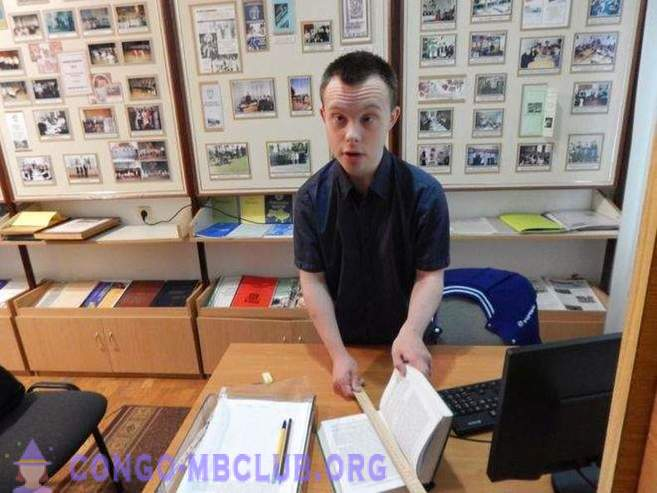 Ukrainian Down Syndrome first graduated and got a job