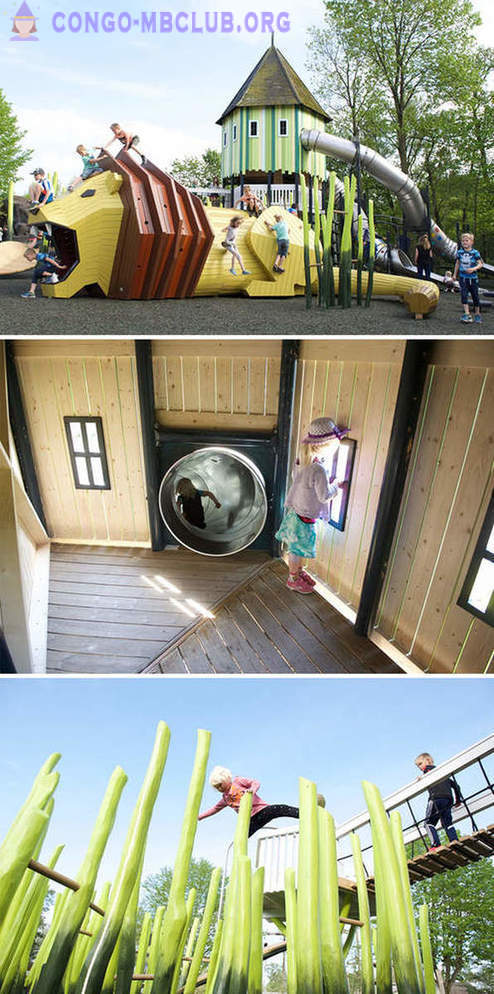 A delightful children's playground on the Danish company