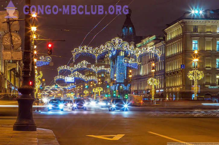St. Petersburg in anticipation of the holiday
