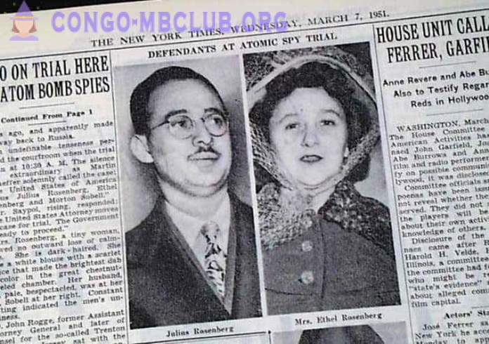 Ethel and Julius Rosenberg for that couple was sentenced to death