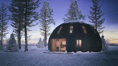 Skeide: dome house from Russia