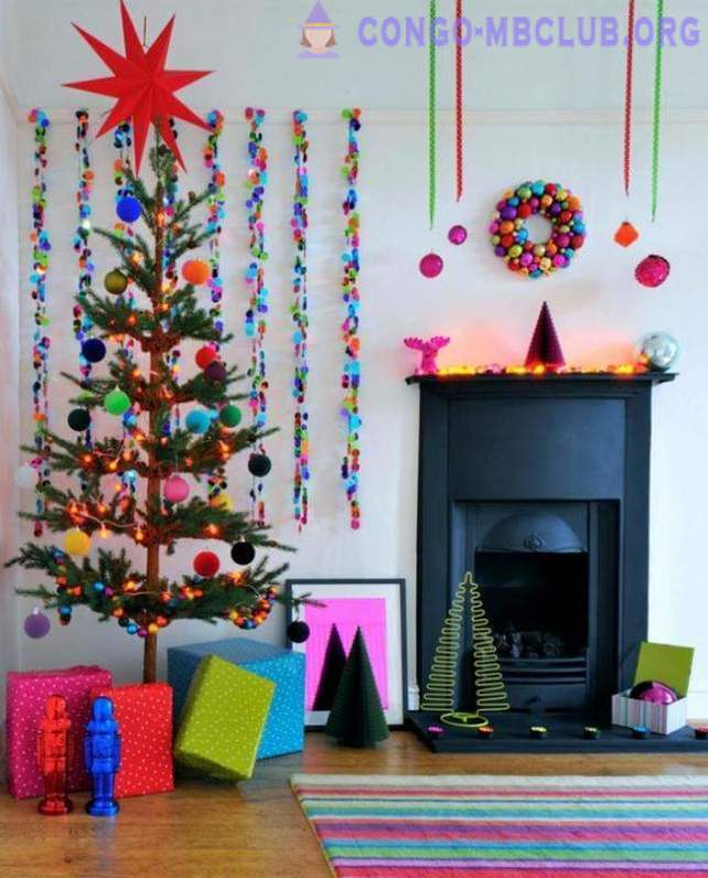 10 unusual ways to decorate the interior of the New Year