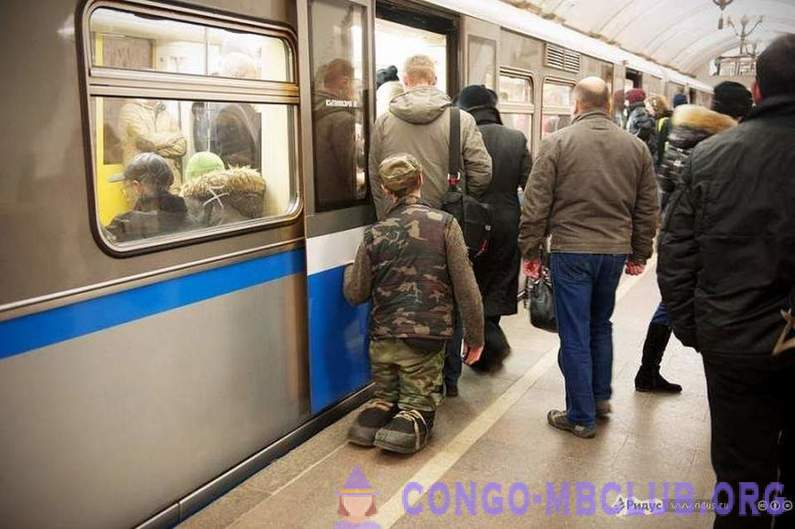 Business in Russian: beggars in the subway