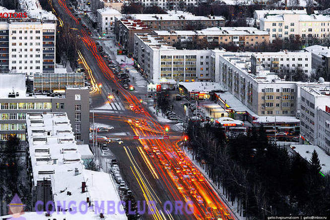 Winter Ufa from height