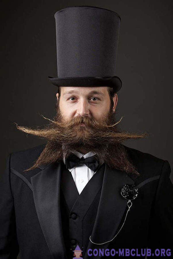 The participants of the World championship of beards and mustaches in 2014
