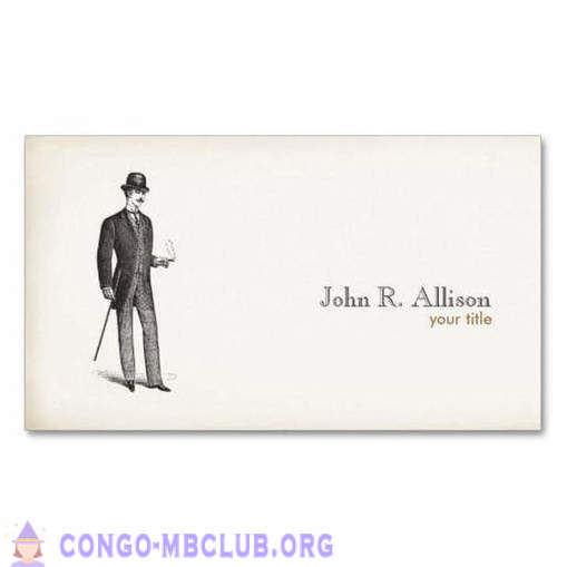 Etiquette of business cards in the XIX century