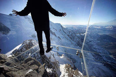 Step into the void over the French Alps