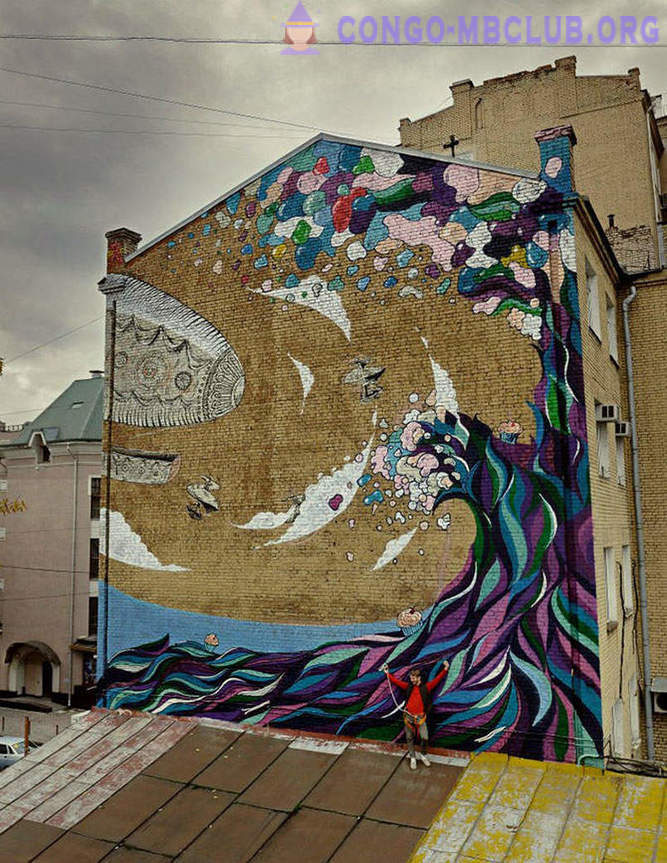 Moscow festival of street art MOST